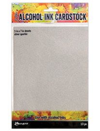 Alcohol Ink Cardstock Silver Sparkle