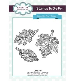 Creative expressions: Zentangle Leaves