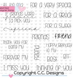 CCDesigns: Friends sentiments