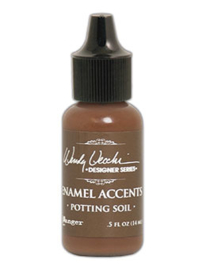 Enamel Accents: Potting Soil