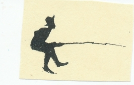 VivaLasVegaStamps - Man Fishing Silhouette