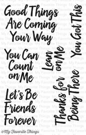 My Favorite Things -  Encouraging Words clear
