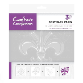 Crafters Companion - Postmark Paris Layering stencil