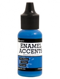 Enamel Accents: Blue Ribbon