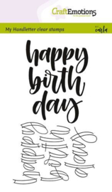 Craft Emotions - handletter Happy Birthday