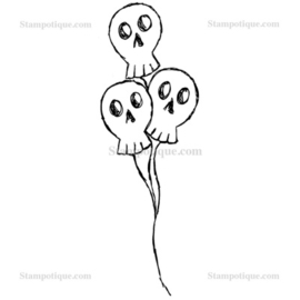 Stampotique - 7413 - Skull Balloons