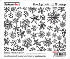 DarkroomDoor-Background Stamp Snow Flakes