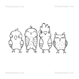 Stampotique - 4021 - Birdy Up