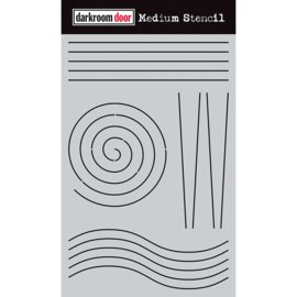 DarkroomDoor Medium Stencil Journal Lines