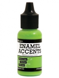 Enamel Accents: Electric Lime