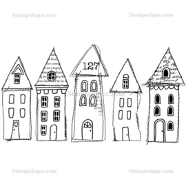 Stampotique - 9262 - Stitched Houses