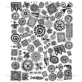 Stampotique -7124 - Mayan Background 2