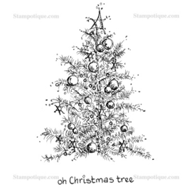Stampotique - 14012 - Oh X-mas Treewith word