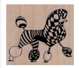 VivaLasVegaStamps - Whimsical Poodle