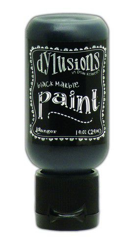 Black Marble - Dylusions Paint - Flip Cap Bottle