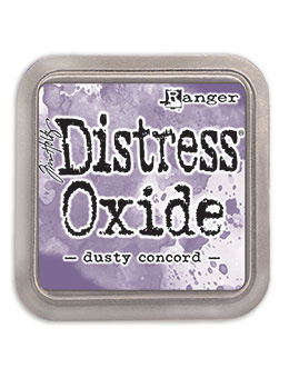 Distress Oxide:  Dusty Concord