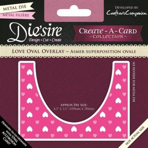 Die'sire Create a Card: Love Oval Overlay