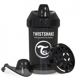 Crawler Cup Black Superhero 300ml - Twistshake