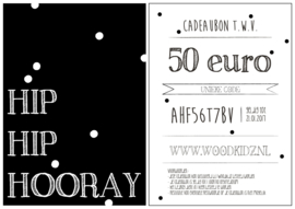 Cadeaubon - t.w.v. 50 euro