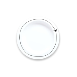 Dinner plate | Bow - Mint and Mini