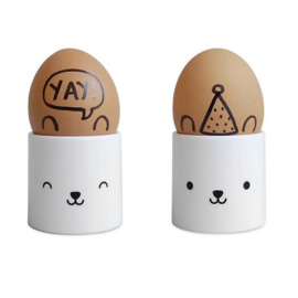 Bear face egg cup - Buddy and Bear