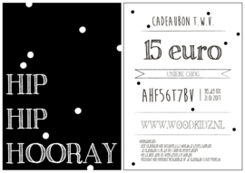 Cadeaubon - t.w.v. 15 euro