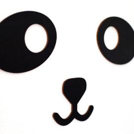 Wall deco Panda BLACK - PUURRR.