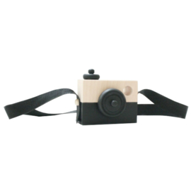 Houten camera ZWART - Manowoods