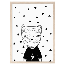 Bear in a t-shirt (A3) - Mini Learners
