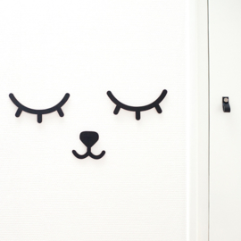 Wall deco Snoozy BLACK - PUURRR.