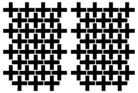 Muurstickers Cross