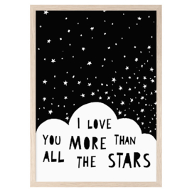 I love you more then all the stars (A3) - Mini Learners