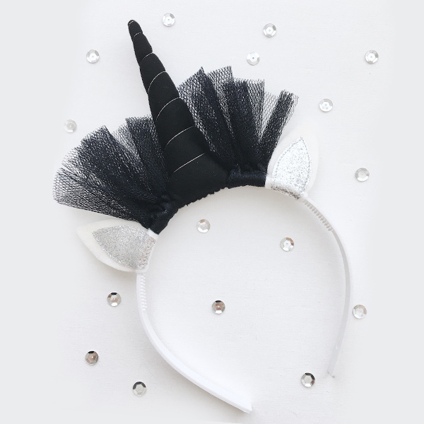 Unicorn diadeem BLACK - Tiny Little Cactus