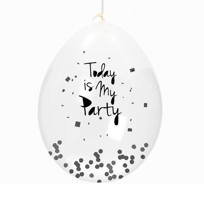 Ballon 'Today is my party' - Huusje