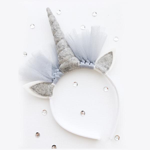 Unicorn diadeem GREY - Tiny Little Cactus