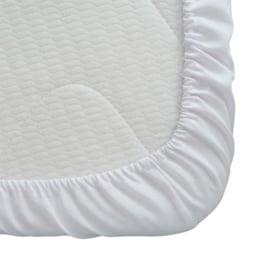 Fitted Sheet, White, 90x200 + 20cm, PC 50-50, Treb PH
