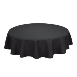 Tablecloth, Round, Black, 132cm Ø, Treb SP