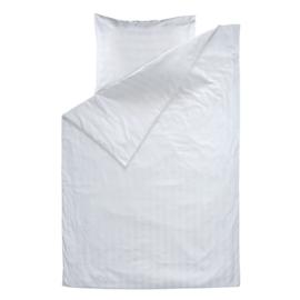 Duvet Cover, White, 140x250cm, 1 Person, Woven Satin Stripes, PC 50-50, Treb PH