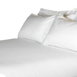 Duvet Cover, White, Microstripe 5mm, 145x235cm, Treb RH