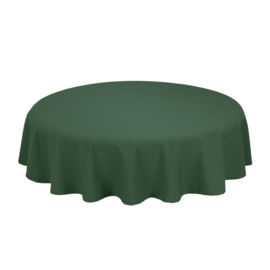 Tablecloth, Round, Forest Green, 132cm Ø, Treb SP