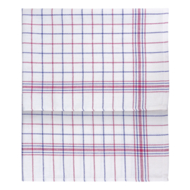 Kitchen Cloth, White, Blue and Red Striping, 70x70cm, Treb Towels