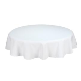 Tablecloth, Round, White, 132cm Ø, Treb SP