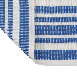 Terry Cloth, 33x35cm, Blue / White striped, Treb Towels