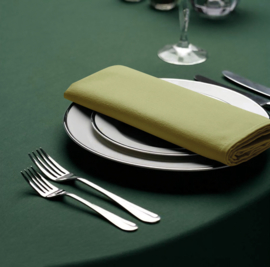 Tablecloth, Round, Forest Green, 178cm Ø, Treb SP