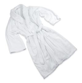Bathrobe, GOTS Cotton, Raglan Sleeve, White, Size: M/XL