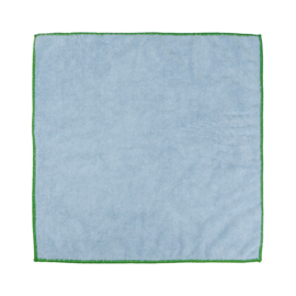 Microfibre Work Cloth, Blue and Green Edge, 40x40cm, Treb Towels