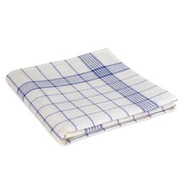 Polishing Cloth, White and Blue Striping, 70x70cm, 50/50 Linen / Cotton, Treb Towels