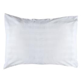 Pillowcase, White, 65x90 + 20cm, Woven Satin Stripes, PC 50-50, Treb PH