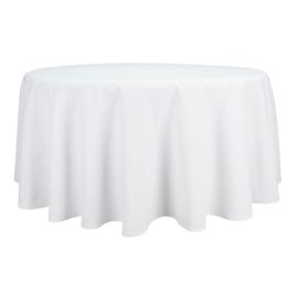 Tablecloth, Round, White, 163cm Ø, Treb SP