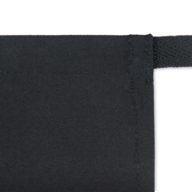 Apron, Black, 80x60cm, Polycotton, Treb ELS